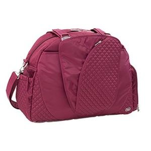 Lug Cartwheel Overnight / Gym Bag - Cranberry